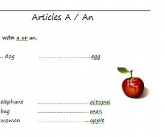 Articles A / An