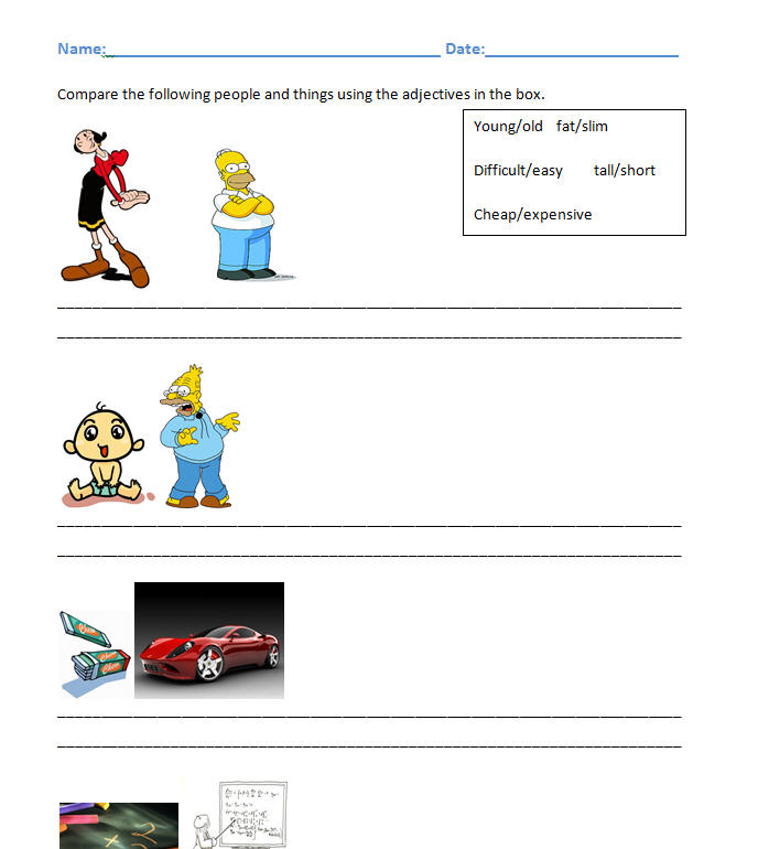 The Pictures Opposites Worksheet