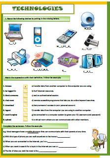 English teaching worksheets: Technologies