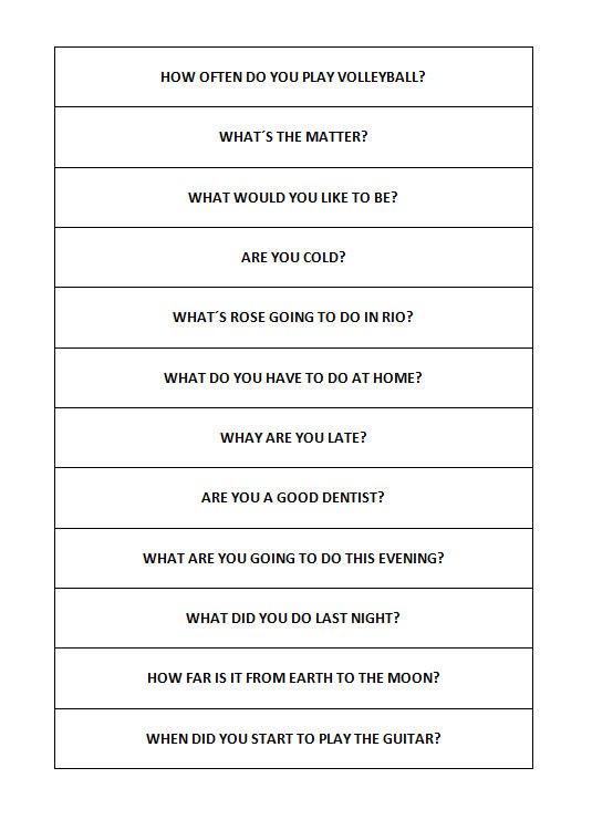 Simple Questions and Answers: Matching Worksheet