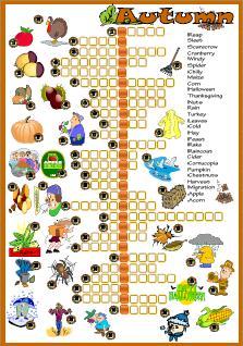 Картинки кроссворда про осень