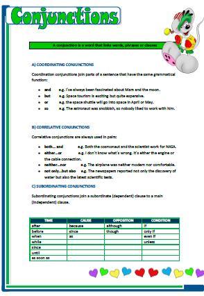 Correlative Conjunctions Practice Worksheet | Worksheets, School ...