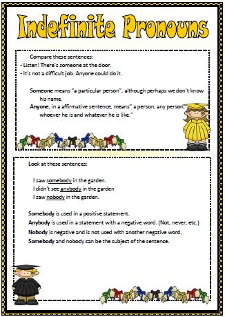 indefinite pronouns elementary worksheet. Black Bedroom Furniture Sets. Home Design Ideas