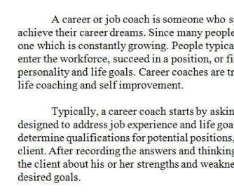 What A Career Coach Is