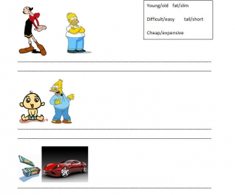 Compare The Pictures: Opposites Worksheet