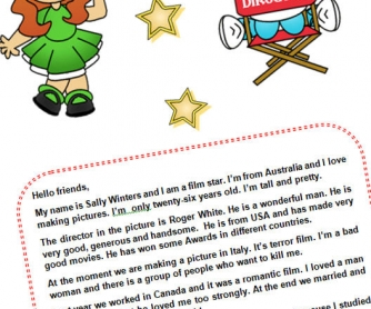 Film Star And Director: Reading Worksheet