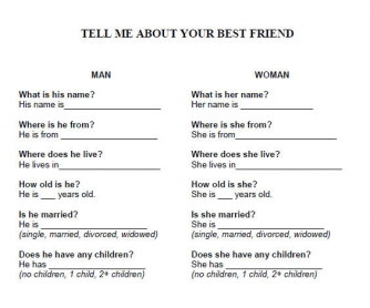 Getting To Know Your Friend!