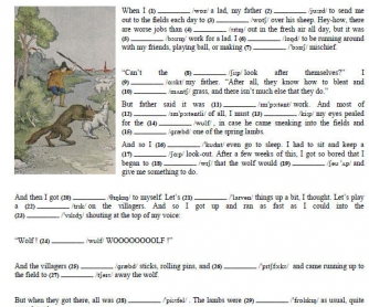Pronunciation and Short Stories 1
