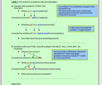 indirect questions grammar rules pdf