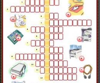 Computer Parts: Picture Crossword