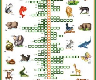Animals: Picture Crossword