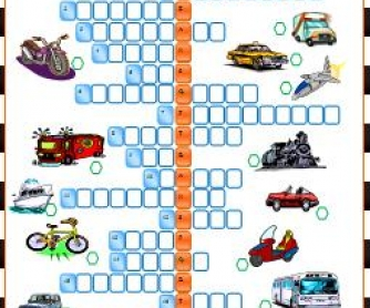 Means of Transport: Elementary Crossword