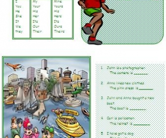 Possessive Adjectives and Possessive Pronouns Worksheet