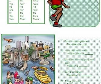 Possessive Adjectives and Possessive Pronouns Worksheet