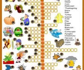 Autumn Picture Crossword