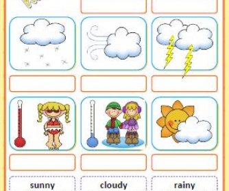 What's The Weather Like? Cut and Paste Activity