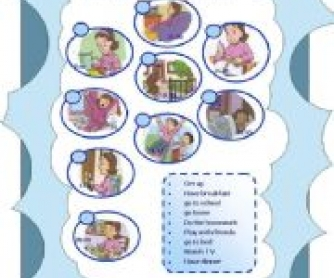 Daily Routines: Elementary Worksheet
