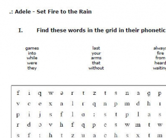 Songs and Phonetics: Set Fire to the Rain by Adele