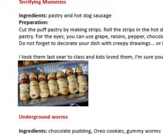 Sweet Halloween Recipes (for kids)