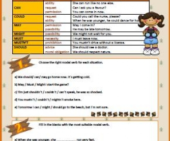 Modal Verbs Worksheet