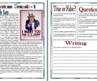 American Symbols: Uncle Sam (Reading Comprehension & Writing)