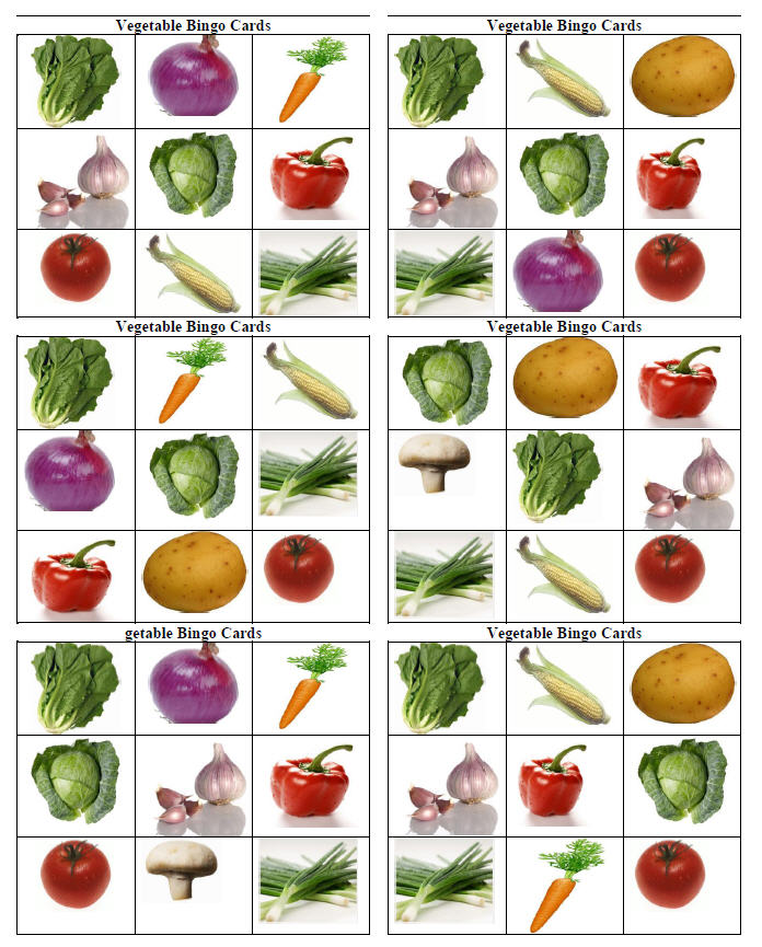 Vegetable bingo cards 1317491400vegg spiritdancerdesigns Choice Image