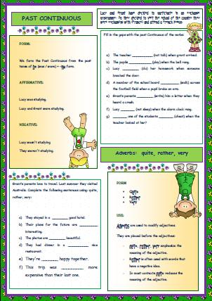 This is a simple worksheet to provide further past continuous practice