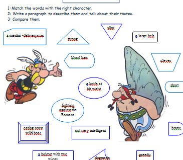 Picture Adapted From Asterix in Britain: 2-Page Worksheet