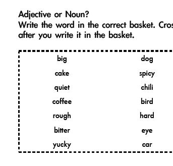 Adjectives, Verbs and Nouns Grammar - Adjective, Verb or Noun? Five ...