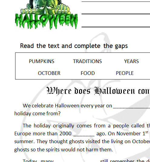 where does halloween come from - Where Did The Holiday Halloween Come From