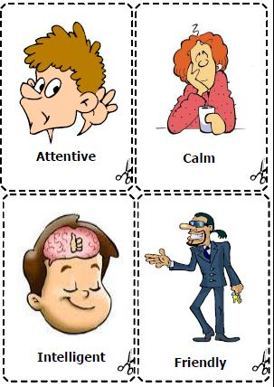 This is a set of cards for teaching personality adjectives: generous ...