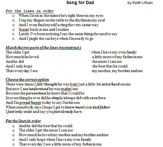 11 FREE Fathers Day Worksheets and Lesson Plans – Dad Worksheets