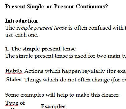 Simple Present Vs Present Progressive