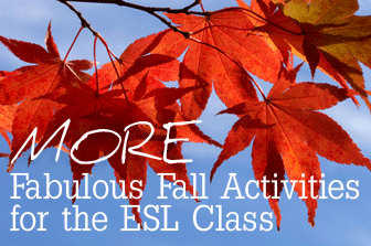 MORE Fabulous Fall Activities for the ESL Class