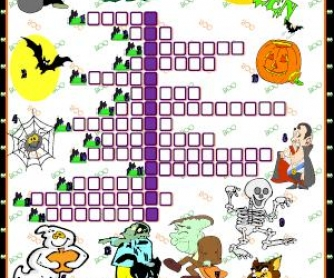 Halloween Picture Crossword