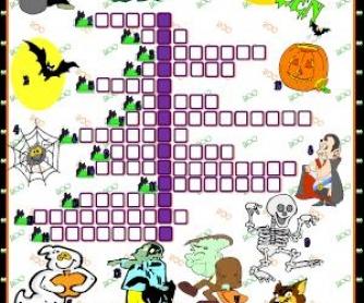 Halloween Picture Crossword