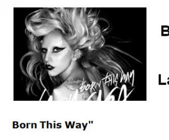 Song Worksheet: Born This Way by Lady Gaga