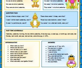 Simple Past of Verb To Be Worksheet