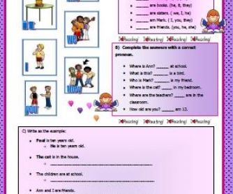 Personal Pronouns Worksheet II