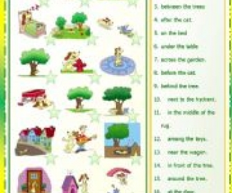 Prepositions of Place Matching Activity