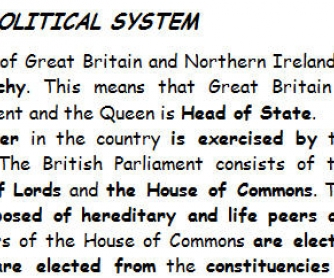 UK Political System [for RU speakers]