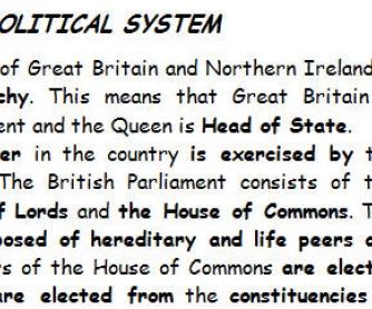 UK Political System [for RU speakers]