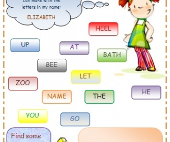 Beginner Word Formation Worksheet