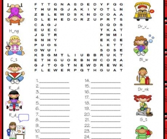 Past Simple: Irregular Verbs Wordsearch Puzzle