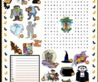 Halloween Wordsearch Puzzle