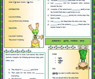 Past Continuous Tense Worksheet