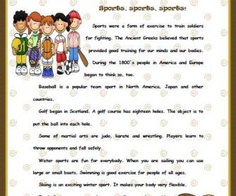 Sports: Written Test