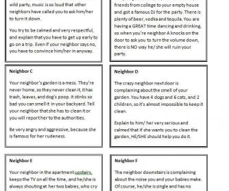 Neighbor Problems Role Play