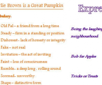 Movie Worksheet: It's The Great Pumpkin, Charlie Brown
