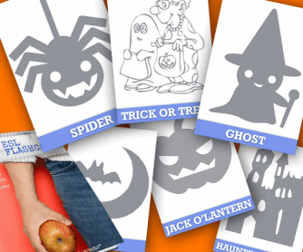 24 HI-RES Halloween Flashcards & How To Use Them